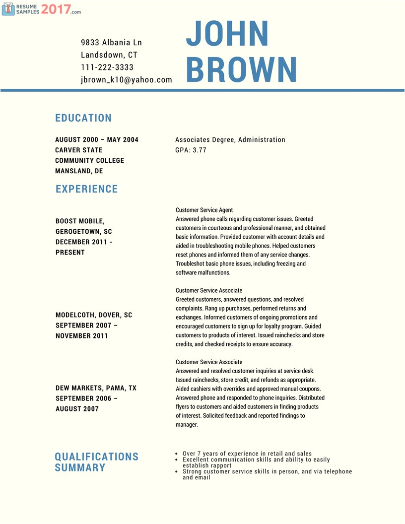 2017 Resume Samples Try these Powerful Customer Service Resume Samples 2016