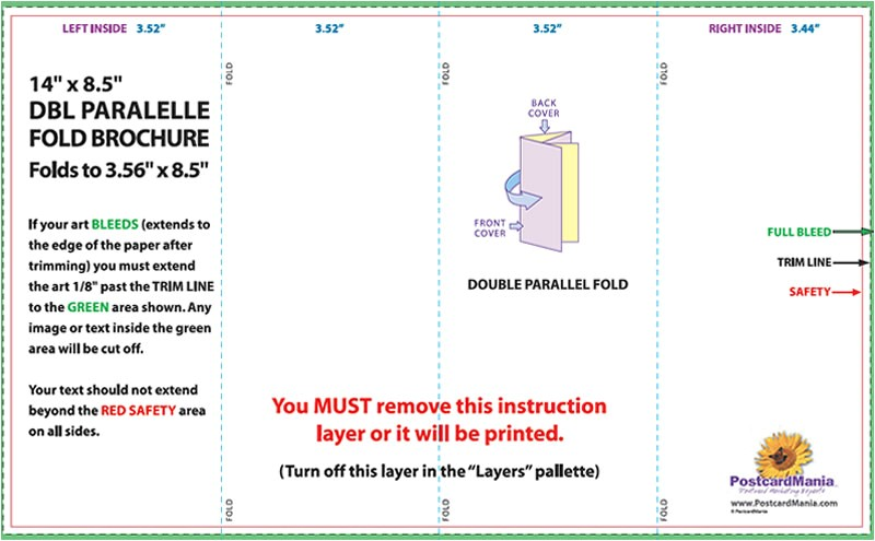 4 column brochure template download postcard design and mailing templates postcardmania free