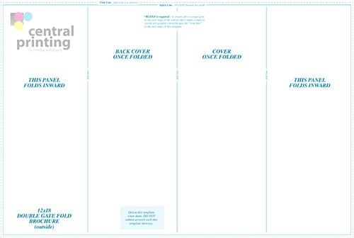 tri fold brochure illustrator template