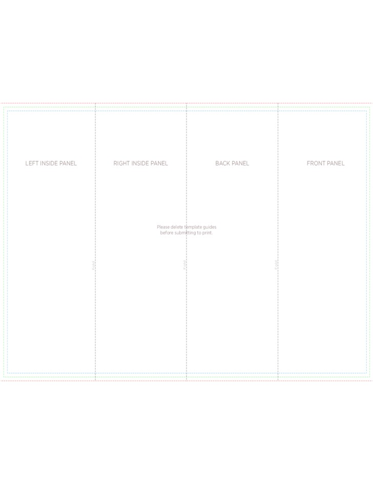 free 4 panel brochure roll fold template