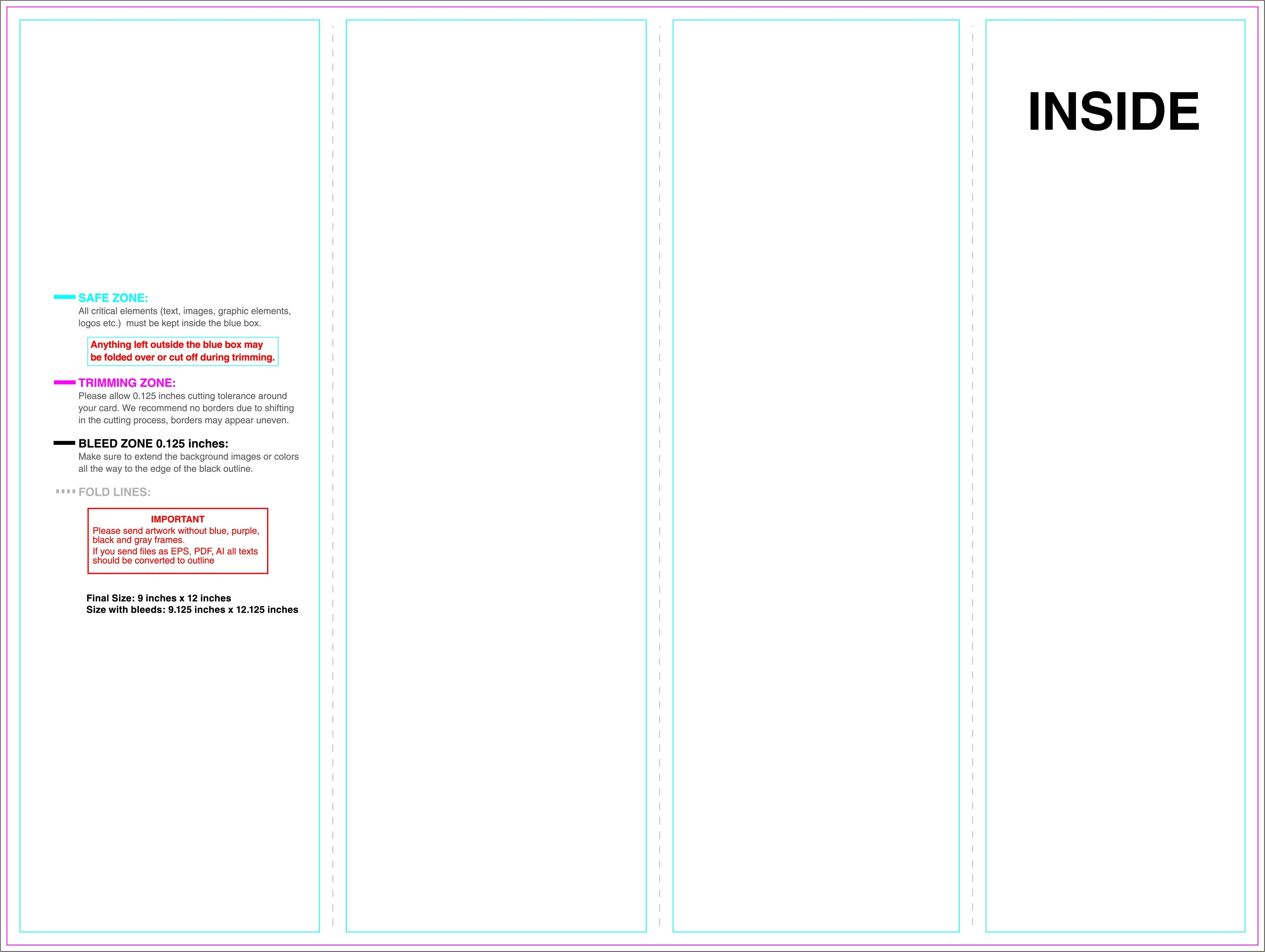 4 Panel Brochure Template Free Download Brochure Outline 4 Panel Brochure Template Full Size