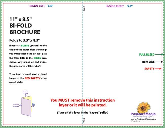 4 panel legal size brochure template
