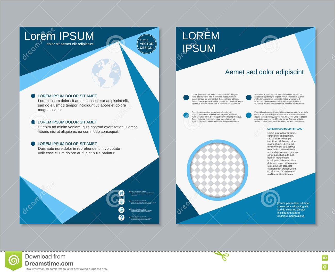 double sided brochure template