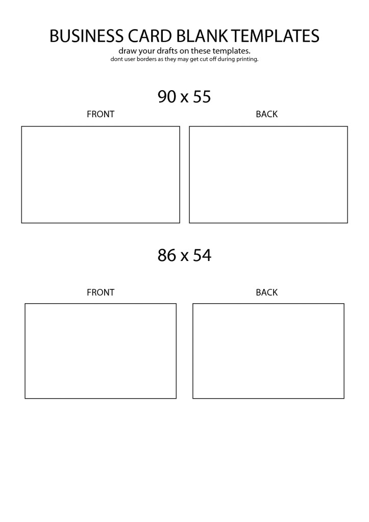 blank business cards templates free download