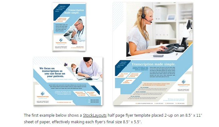 one page brochure template word half page flyer templa