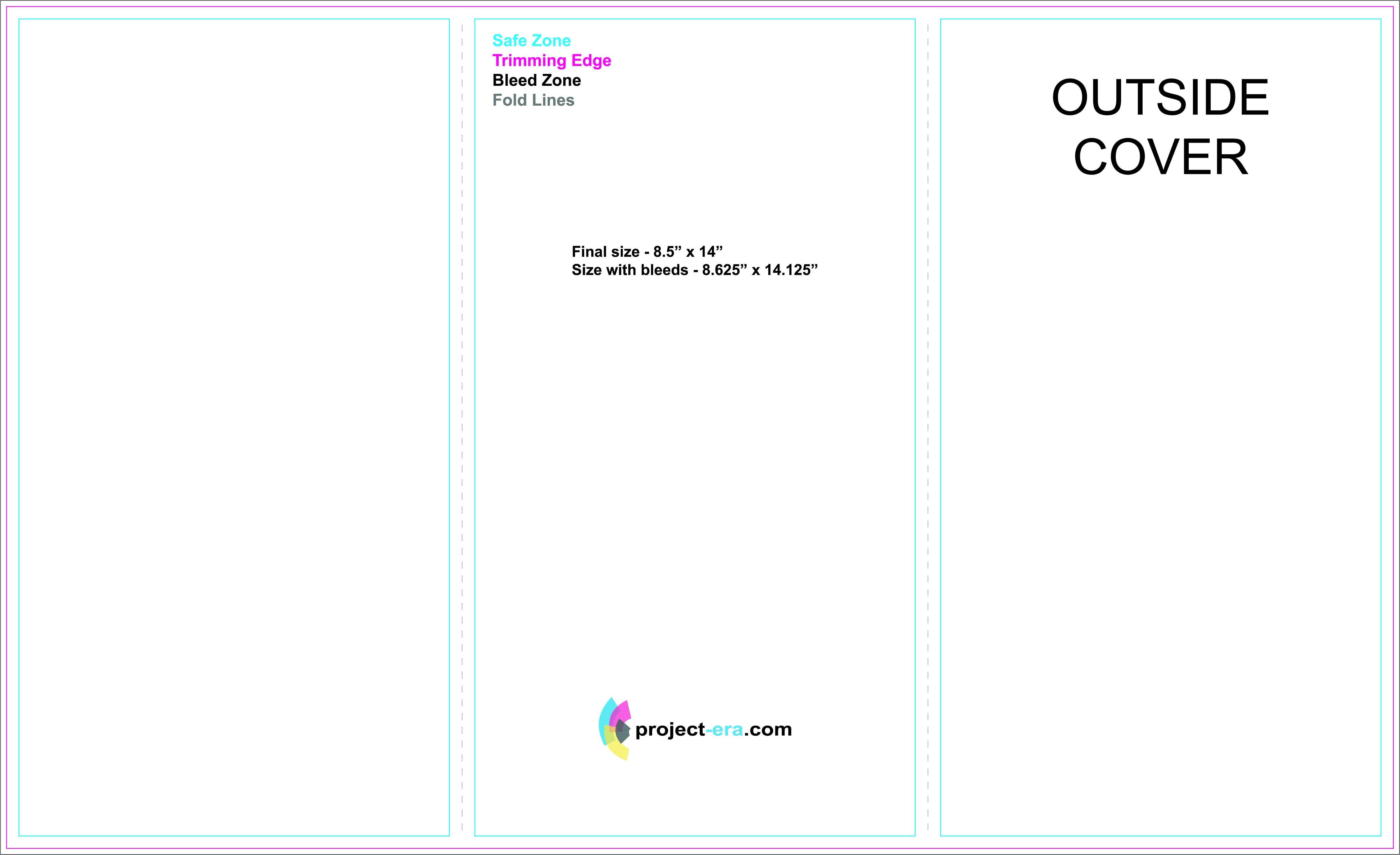 8.5 X 14 Brochure Template Project Era Com Print Design Services Print Templates