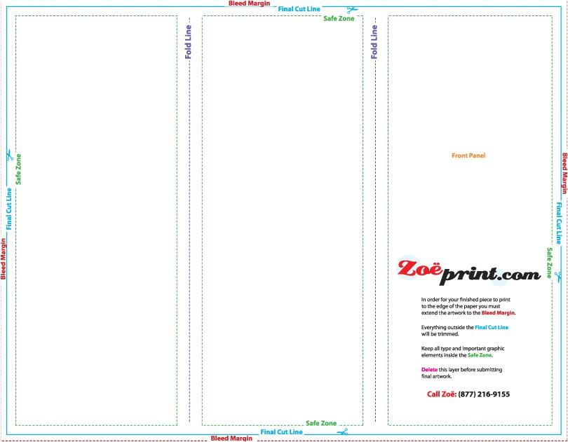 8 5x11 brochure template templates