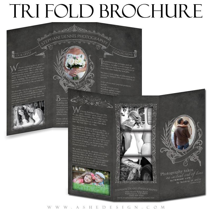 8 5x11 tri fold brochure chalkboard