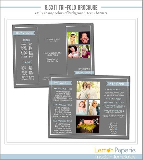 85x11 tri fold marketing brochure