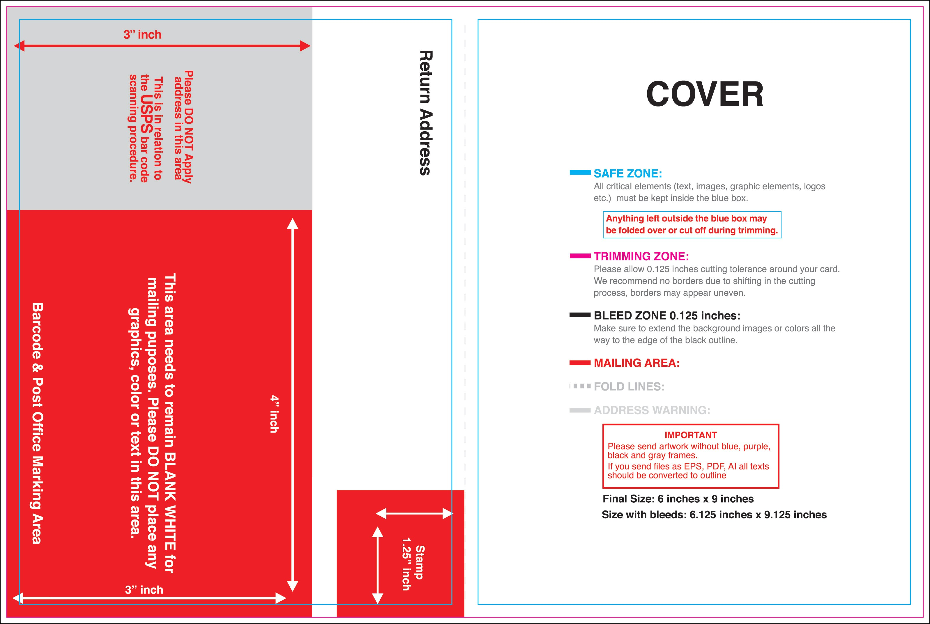 6 x 9 envelope template for word