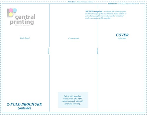 9×12 Brochure Template Brochure Templates Central Printing