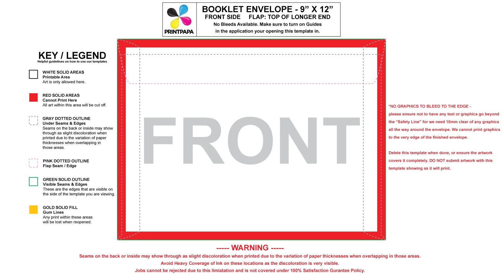 envelope template 7 25 x 5 25 9 x 12 booklet envelope templates 44502