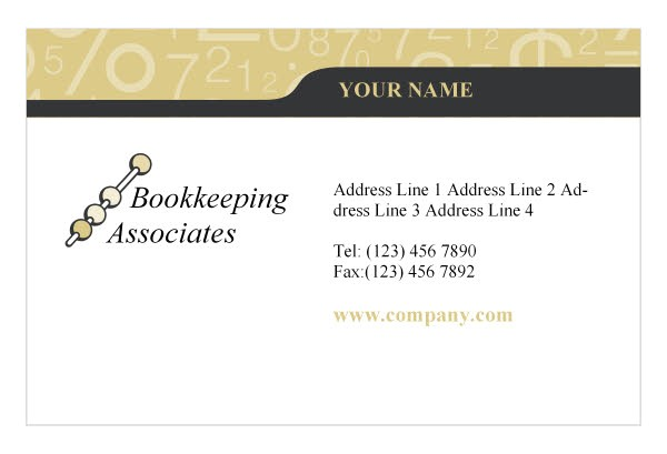 Accountant Business Card Template Bookkeeping Accounting Services Print Template From Serif Com