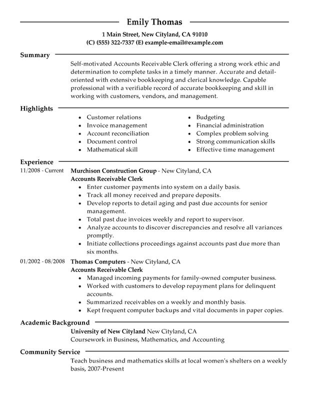 Accounts Payable Resume Template Accounts Payable Resume Sample Best Professional Resumes