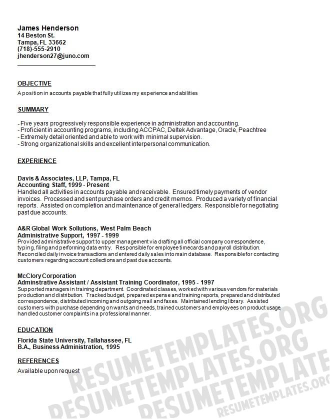 resume statement of purpose