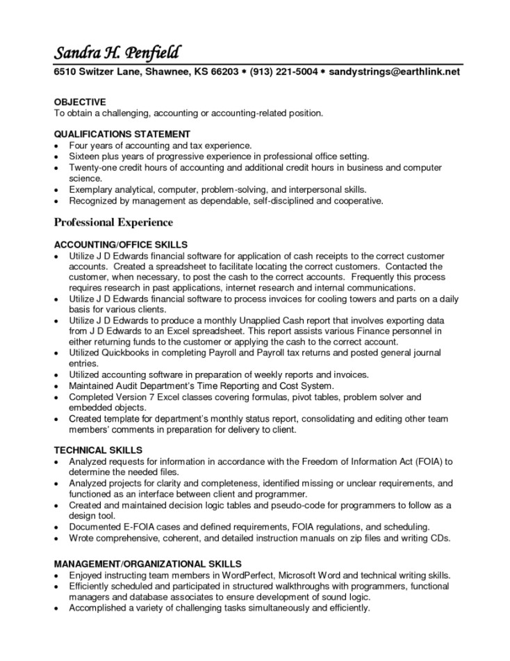 accounts receivable specialist resume