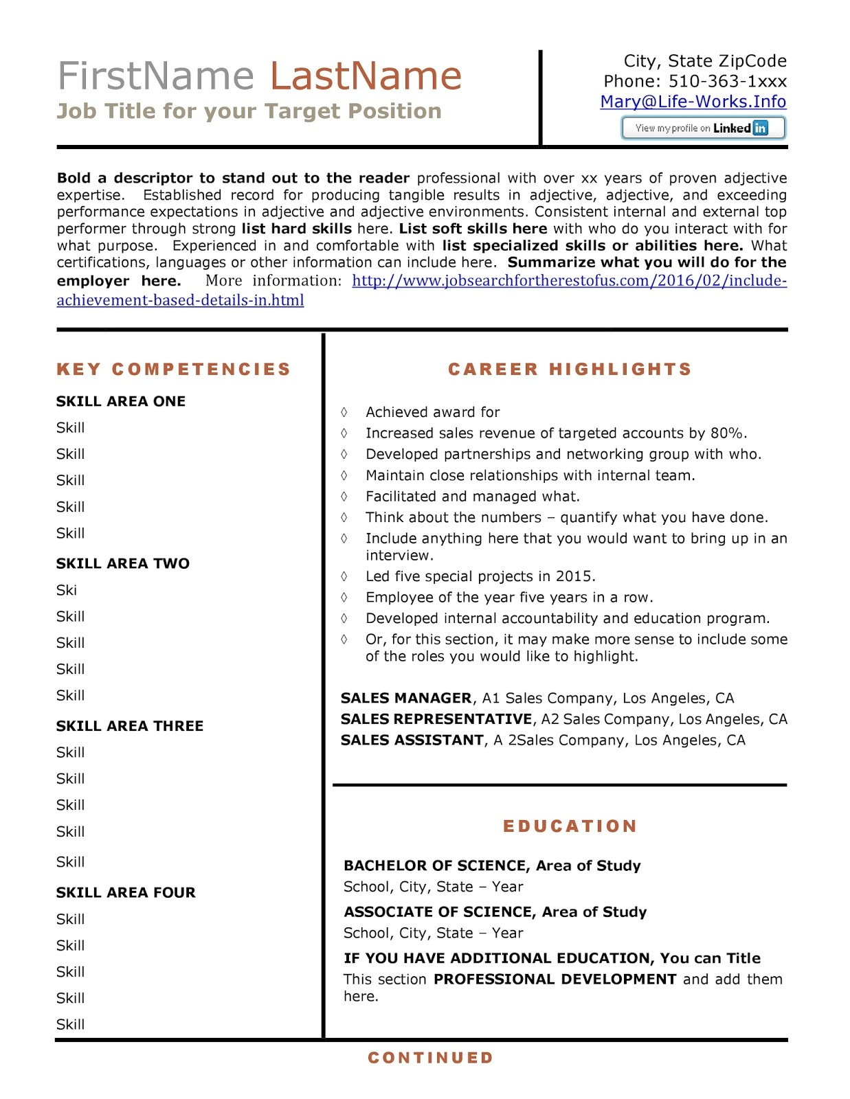 Achievement Based Resume Template Job Search for the Rest Of Us Include Achievement Based