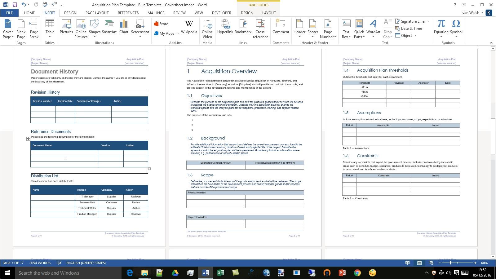 acquisition plan template