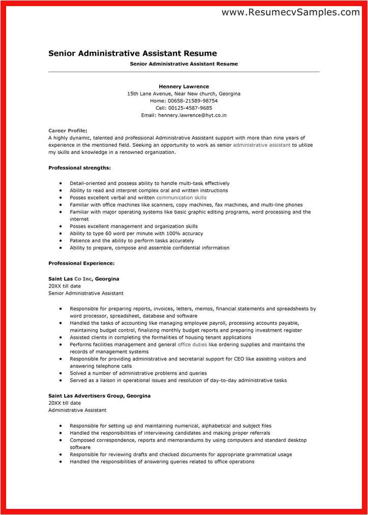 Administrative assistant Resume Sample 2014 Word Resume Template 2014 Apa Example