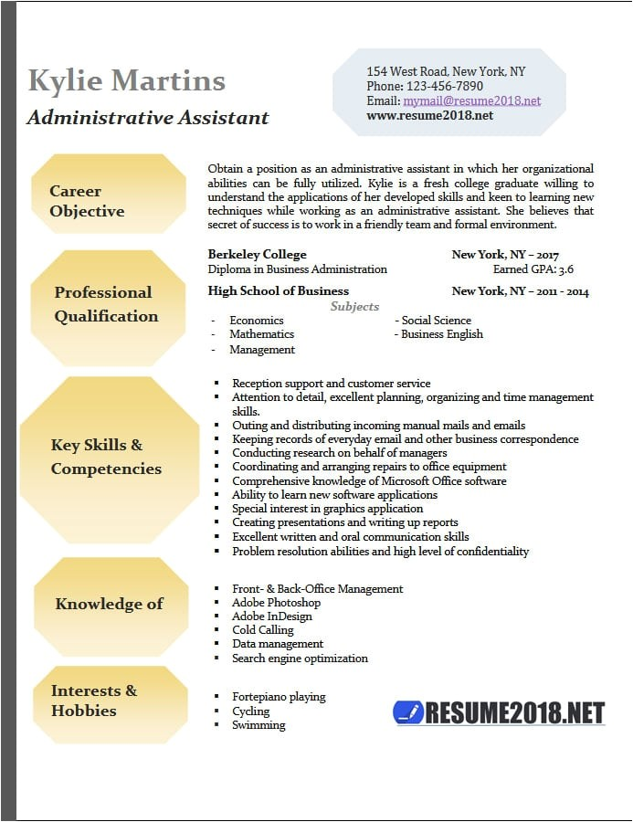 Administrative assistant Resume Templates 2018 Administrative assistant Resume Examples 2018 Resume 2018