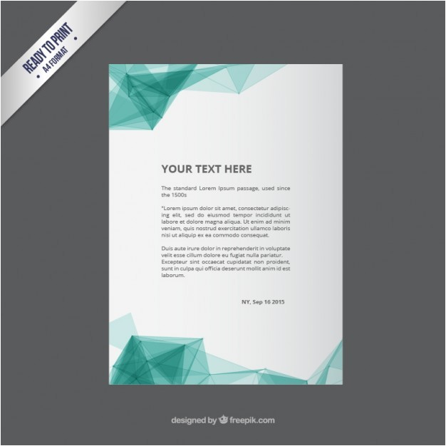 flyer template with abstract polygons 796921