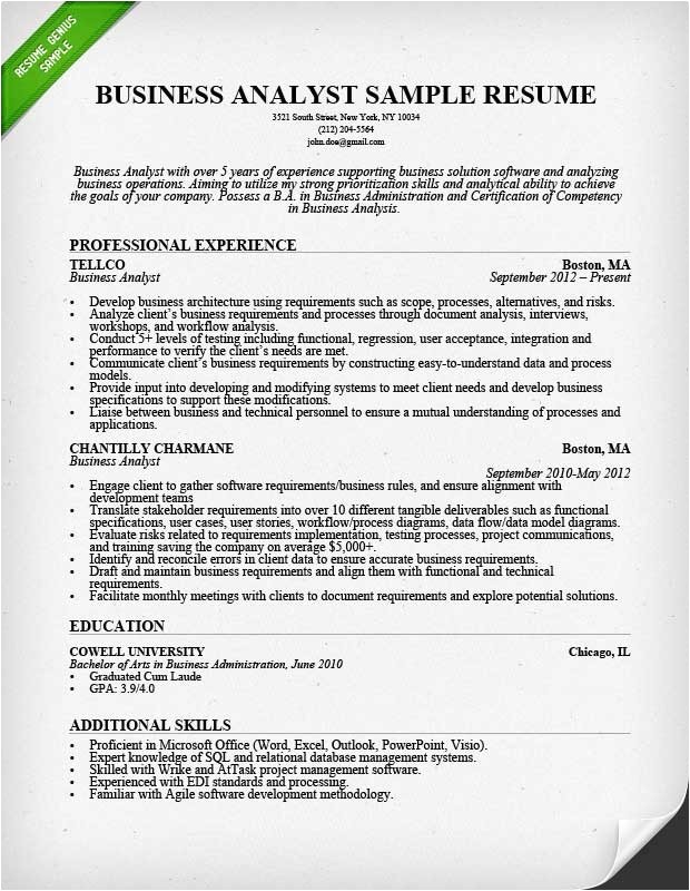 business resume template 2