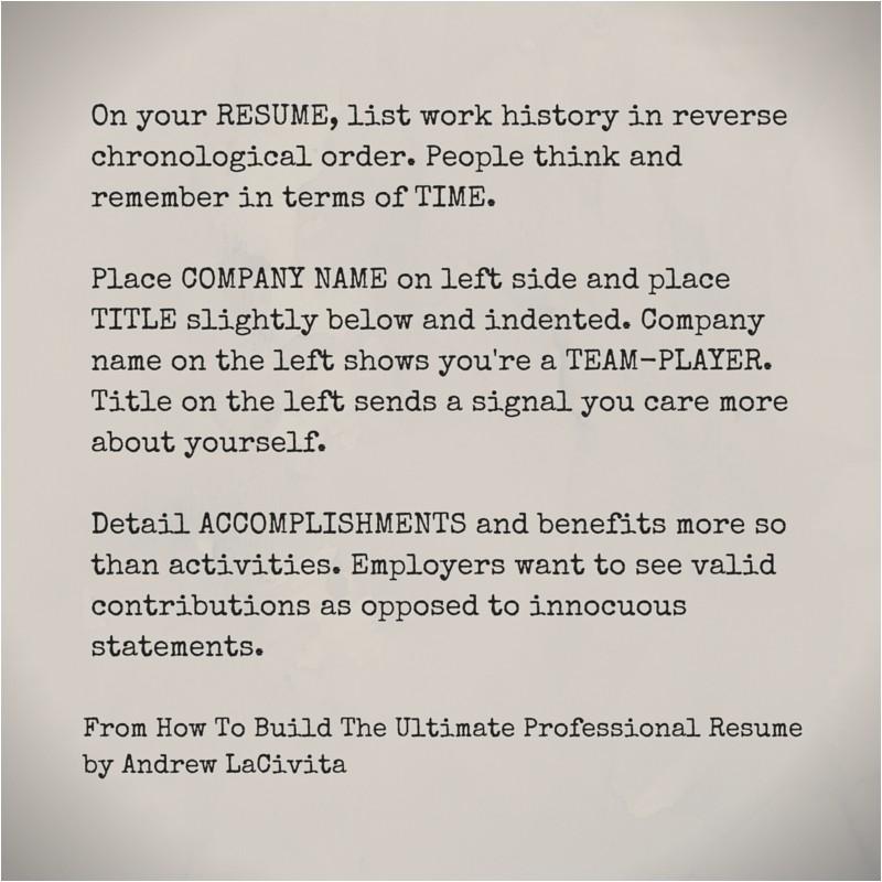 build ultimate professional resume andrew lacivita