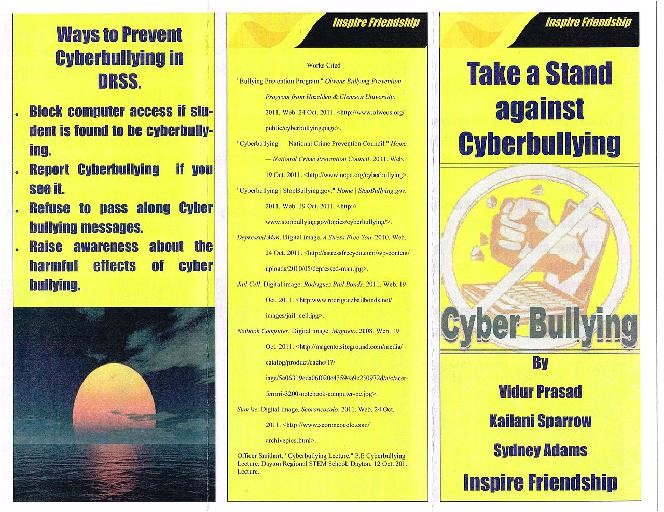 dp anti bullying brochore