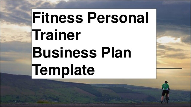 Anytime Fitness Business Plan Template Fitness Personal Trainer Business Plan