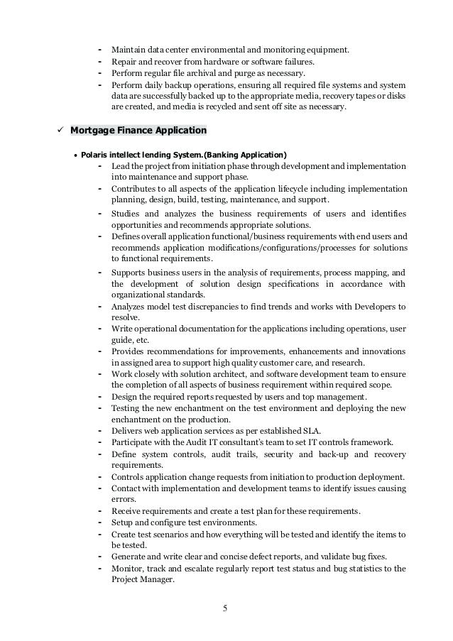 Application Support Analyst Sample Resume Application Support Analyst Resume Resume Ideas