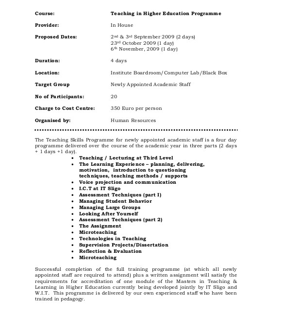 Apprenticeship Proposal Template 35 Training Proposal Templates Pdf Doc Free