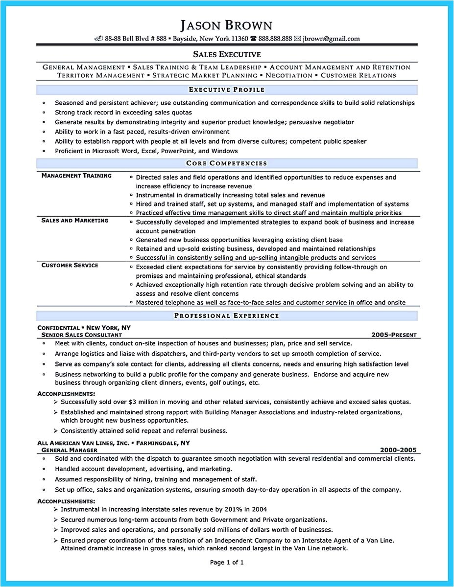 area of expertise resume