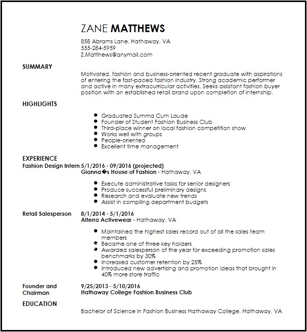 entry level fashion assistant buyer