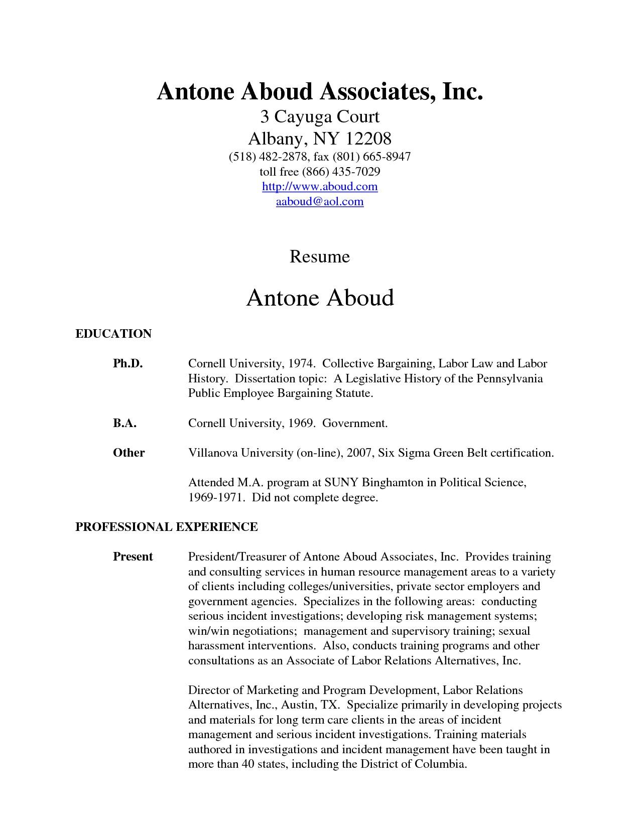 Associate Degree Resume Sample How Do You Write associate Degree On A Resume Resume Ideas