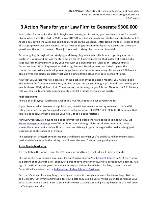 Attorney Business Plan Template Writing Sample attorney Action Plans