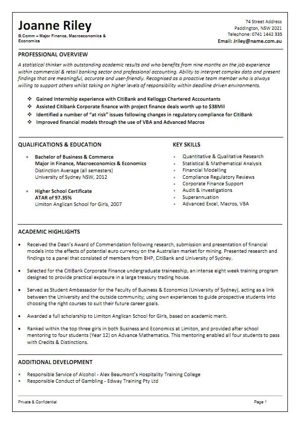 Australian format Resume Samples Free Resume Samples Australia Free Resume Examples