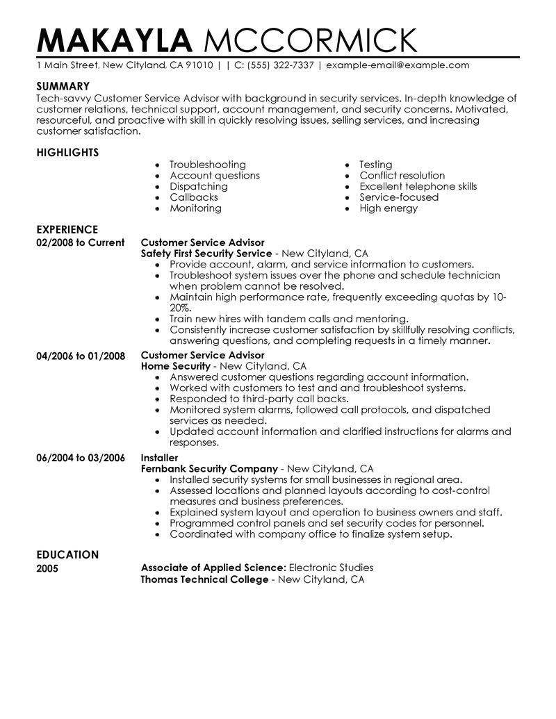 Auto Service Advisor Resume Sample Automotive Service Advisor Resume Example Resume