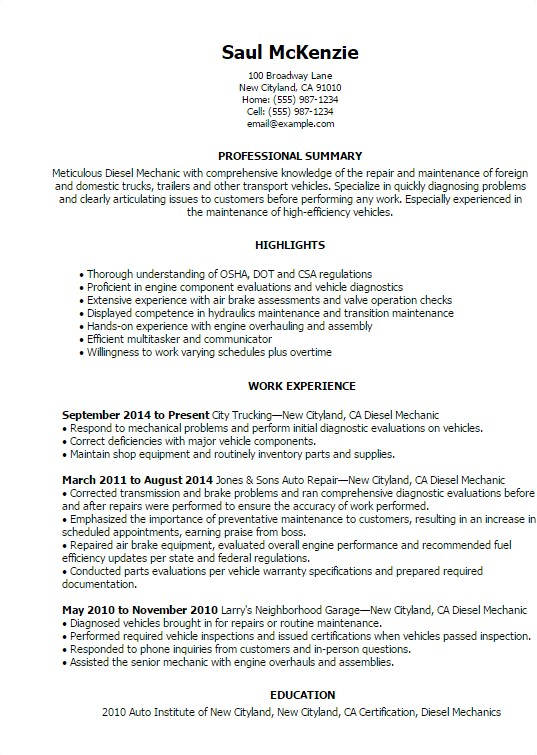 Automotive Resume Templates Automotive Resume Templates to Impress Any Employer