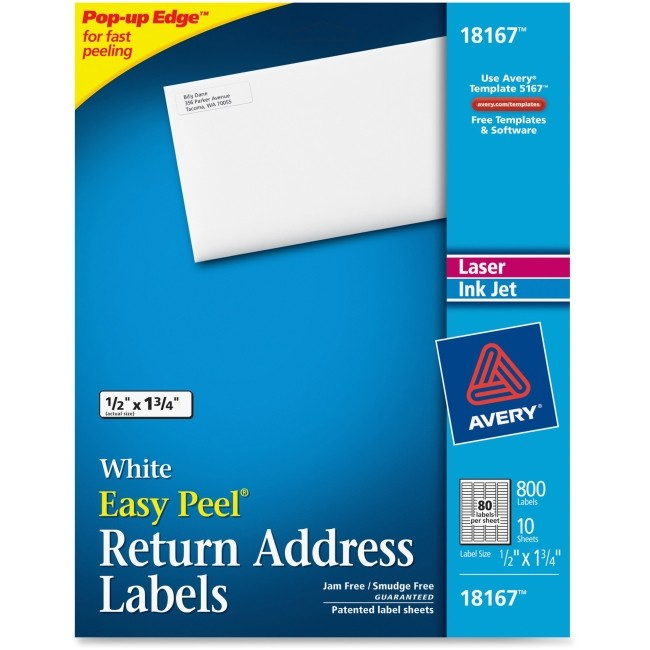 ave18167 avery 18167 return address label