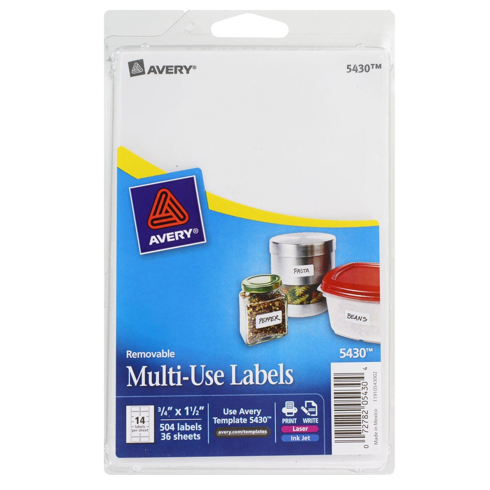 Avery 1 2 X 1 3 4 Template Quot Avery Removable Multi Use Labels 3 4 X 1 1 2 White 504
