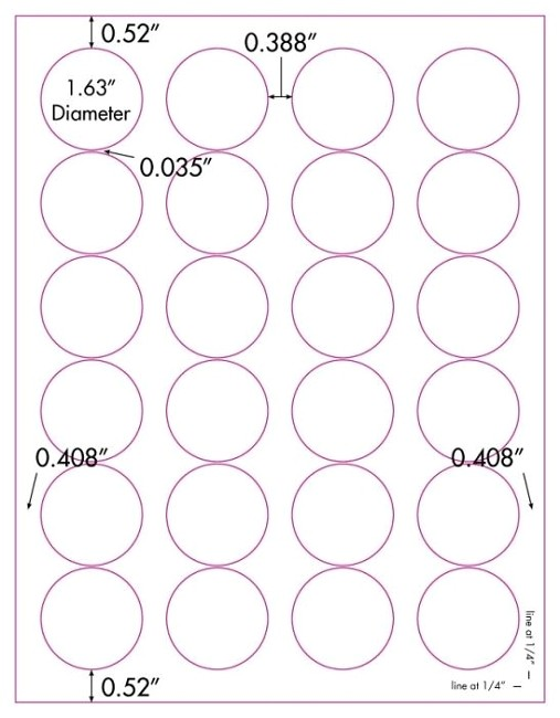 Avery 1.5 Inch Round Labels Template 480 Vinyl Weatherproof Waterproof White Laser Only Round