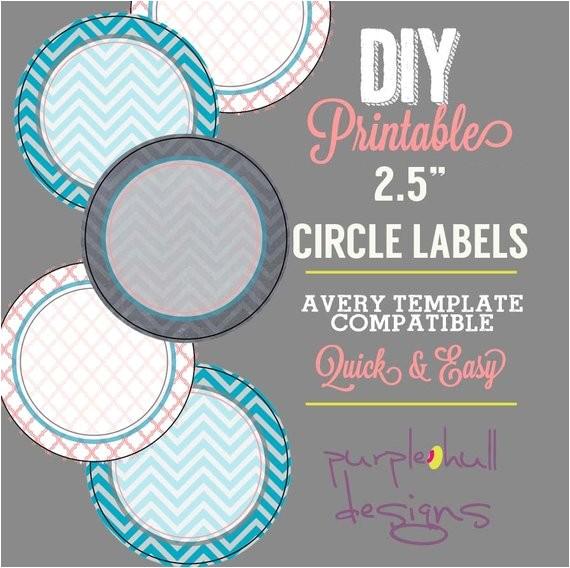 circle label sticker avery template 25