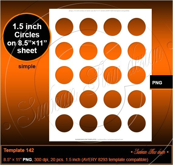 instant download 15 inch circles