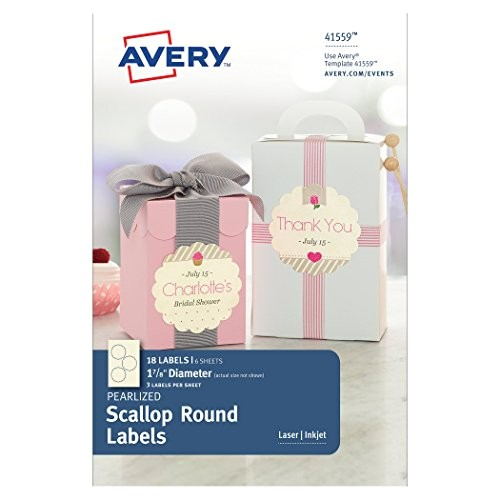 Avery 1 Inch Round Labels Template Avery Pearlized Scallop Round Labels 1 7 8 Inch Diameter