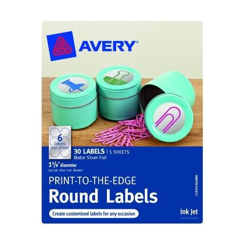 avery print to the edge round labels matte silver b00bpyx7yq