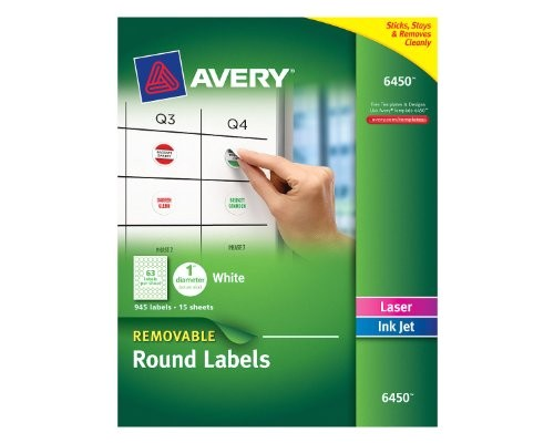 avery removable round labels 1 inch diameter white b00dsyed3u