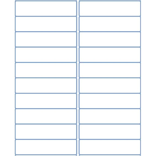 Avery 1 X 4 Label Template Address Labels 4 X 1