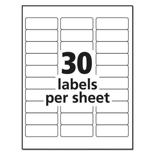 Avery 10 Labels Per Sheet Template Ave18660 Avery Clear Easy Peel Address Labels Zuma