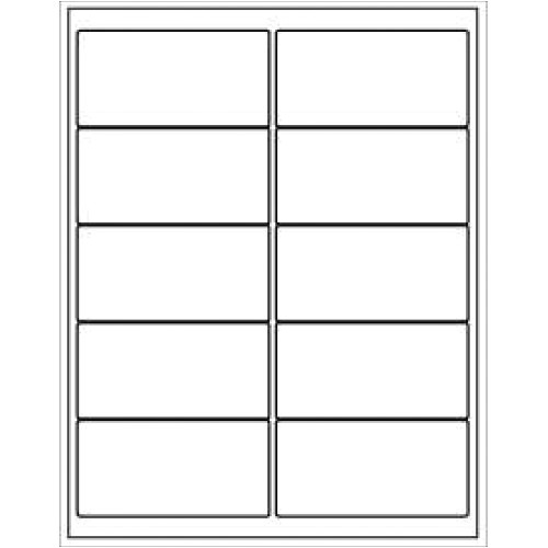 Avery 10 Labels Per Sheet Template Label Template Avery 5163 Printable Label Templates