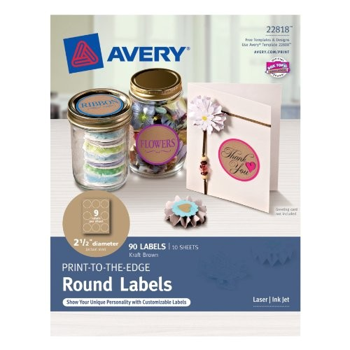 Avery 2 Inch Round Labels Template Avery Textured Print to the Edge Arched Labels Laser